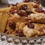 Balsamic Chicken with Pears and Cherries