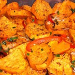 Potatoes with Peppers and Red Onion