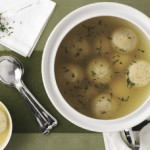 Ginger-Leek Matzoh Balls in Lemongrass Broth
