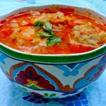 Cabbage Soup with Matzoh Meatballs