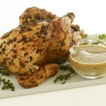 Garlicy Roast Chicken with Rosemary