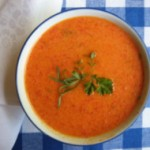 Sweet and Savory Red Pepper Soup