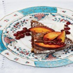 Walnut Cake with Apricot Glace