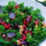 Kale Salad with Pomegranate & Toasted Nuts