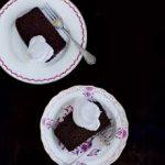 Chocolate Almond Flour Loaf Cake with Raspberry Sauce