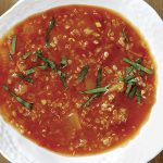Tomato and Wild Mushroom Soup with Quinoa