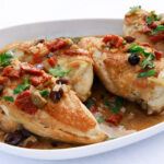 Chicken with Olives, Sundried Tomatoes and Lemon